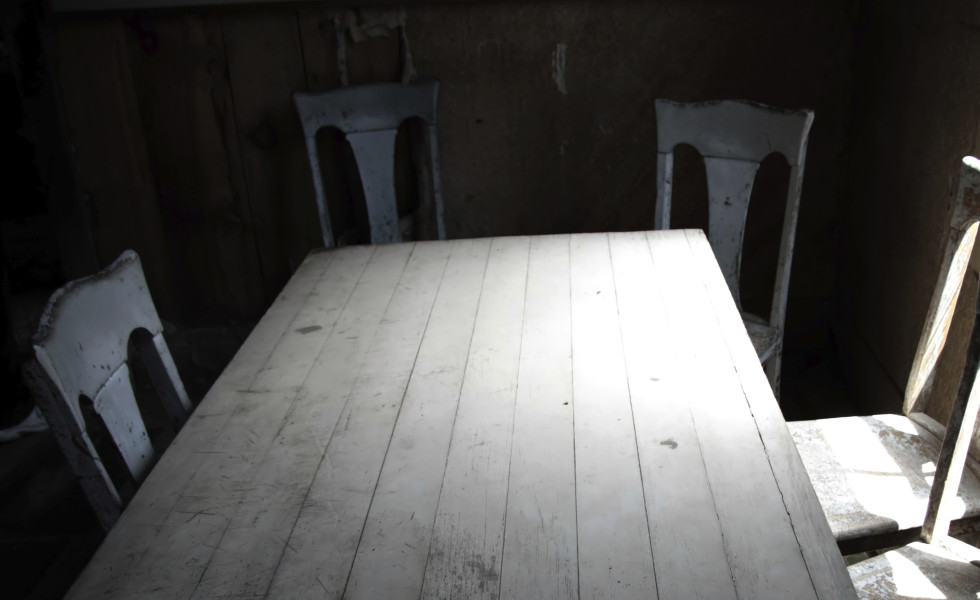 Old empty table